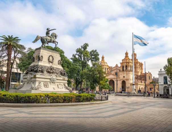 San Martin Square and Cordoba Cathedral - Cordoba, Argentina